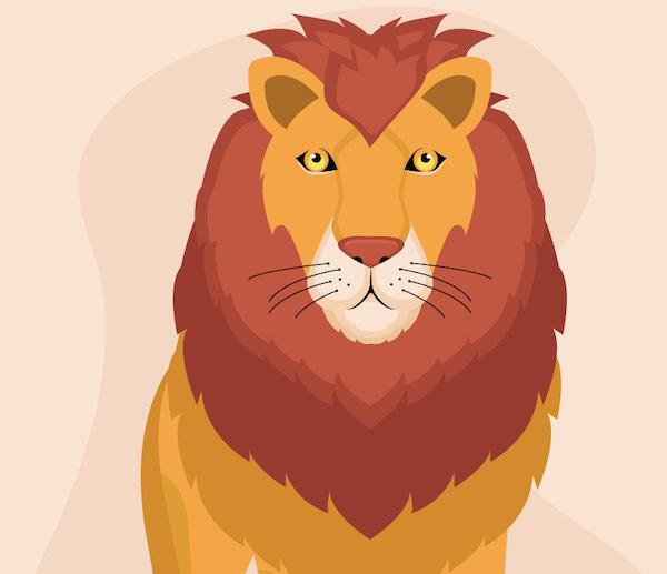 El lobo, orgulloso de su sombra, y el león