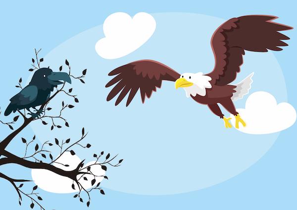 El águila, el cuervo y el pastor