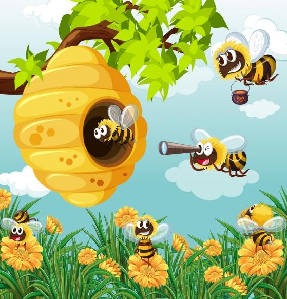 Los zanganos y las abejas