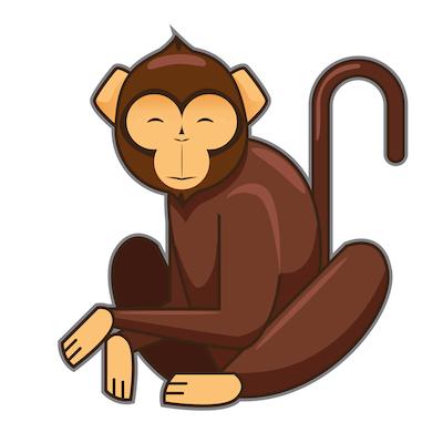 El mono y el cazador